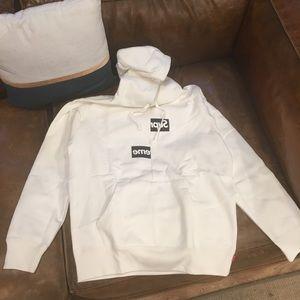 Supreme Tops - Supreme CDG shirt split box logo hooded fw18